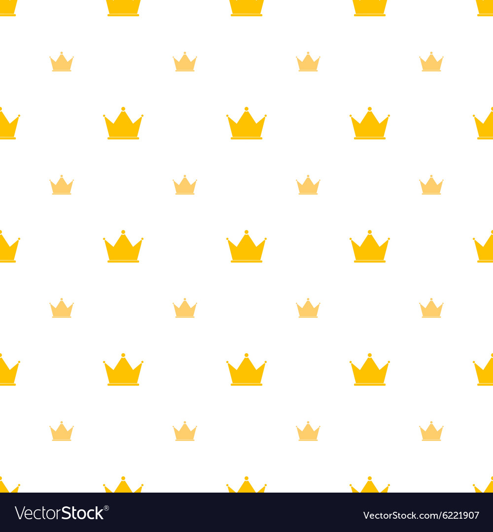Big and small gold crown icons on white background
