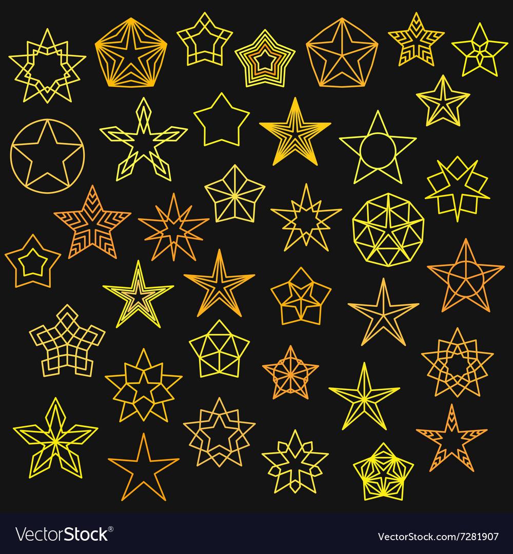 Big Set of Monoline Star Icons