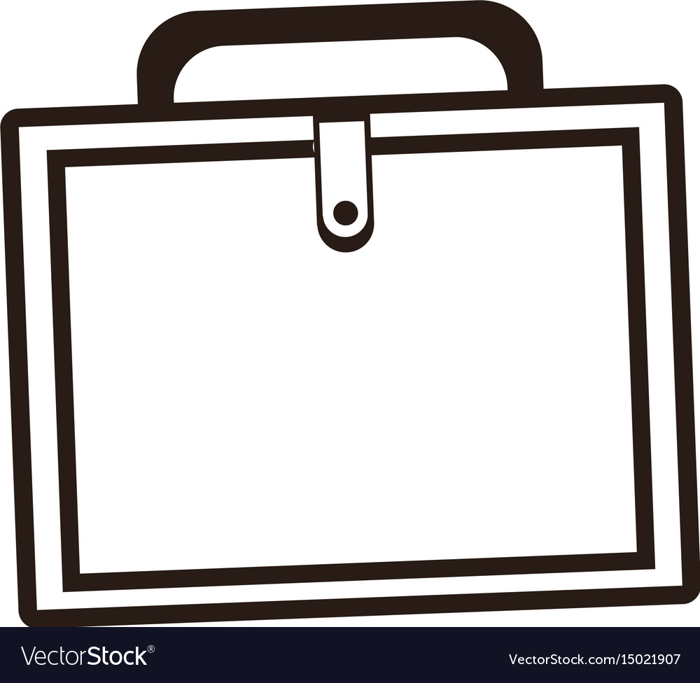 Business portfolio suitcase document paper image vector image
