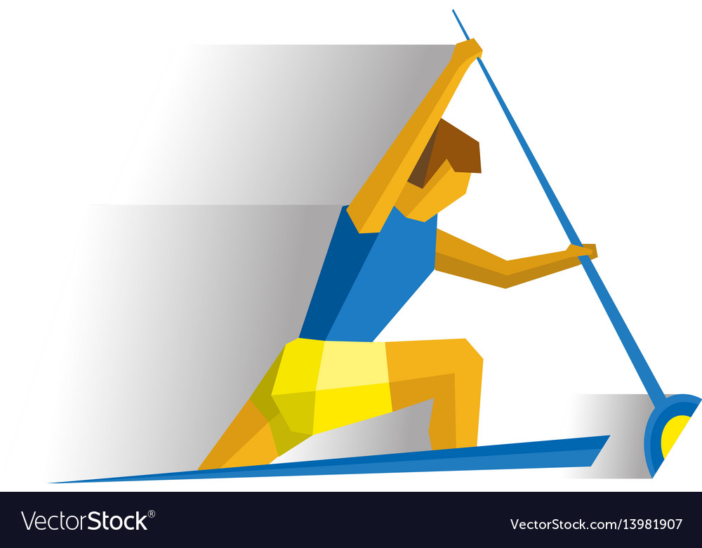 Canoe sprint competition rower in the boat