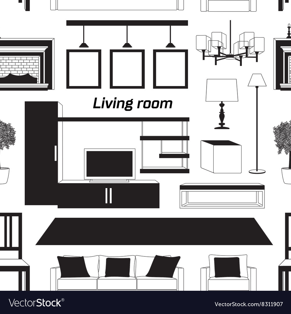 Cool graphic living room pattern