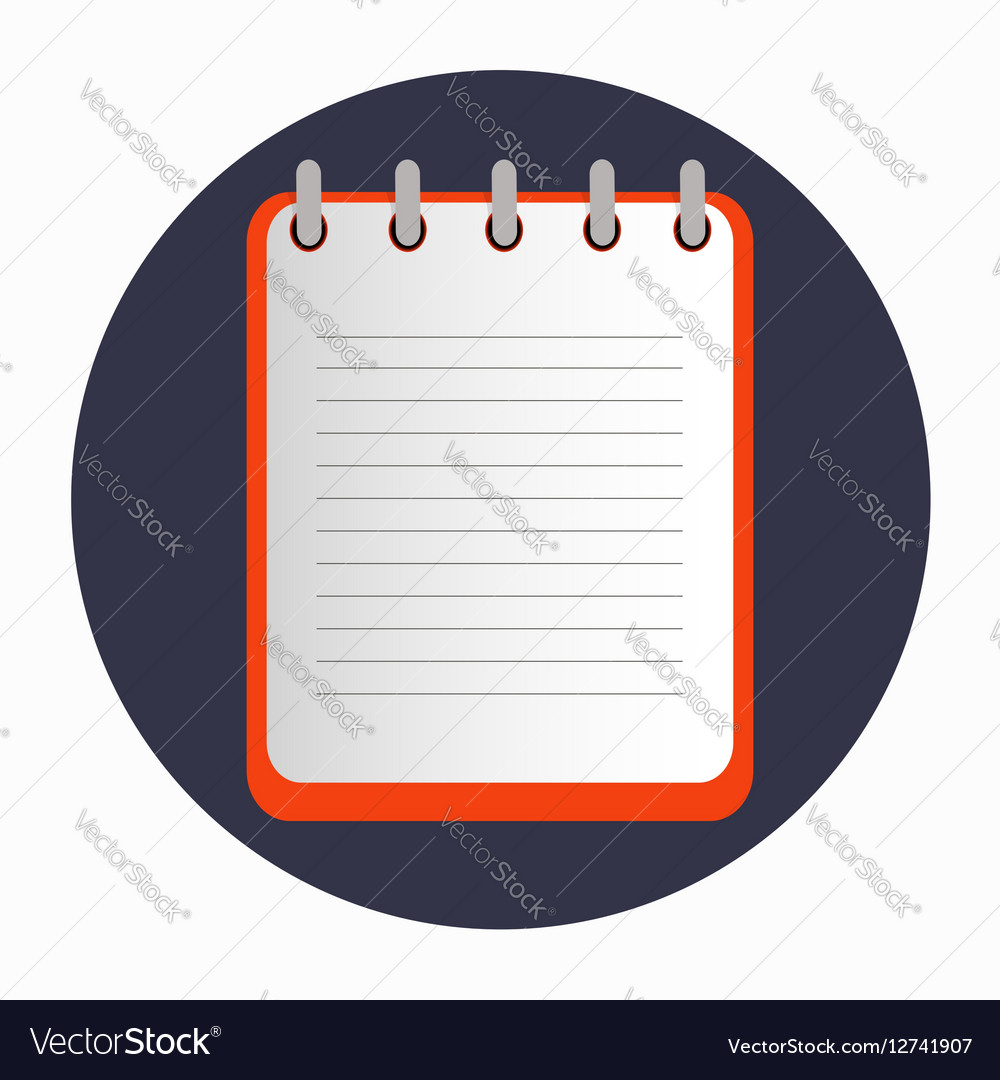 Flat template red notebook