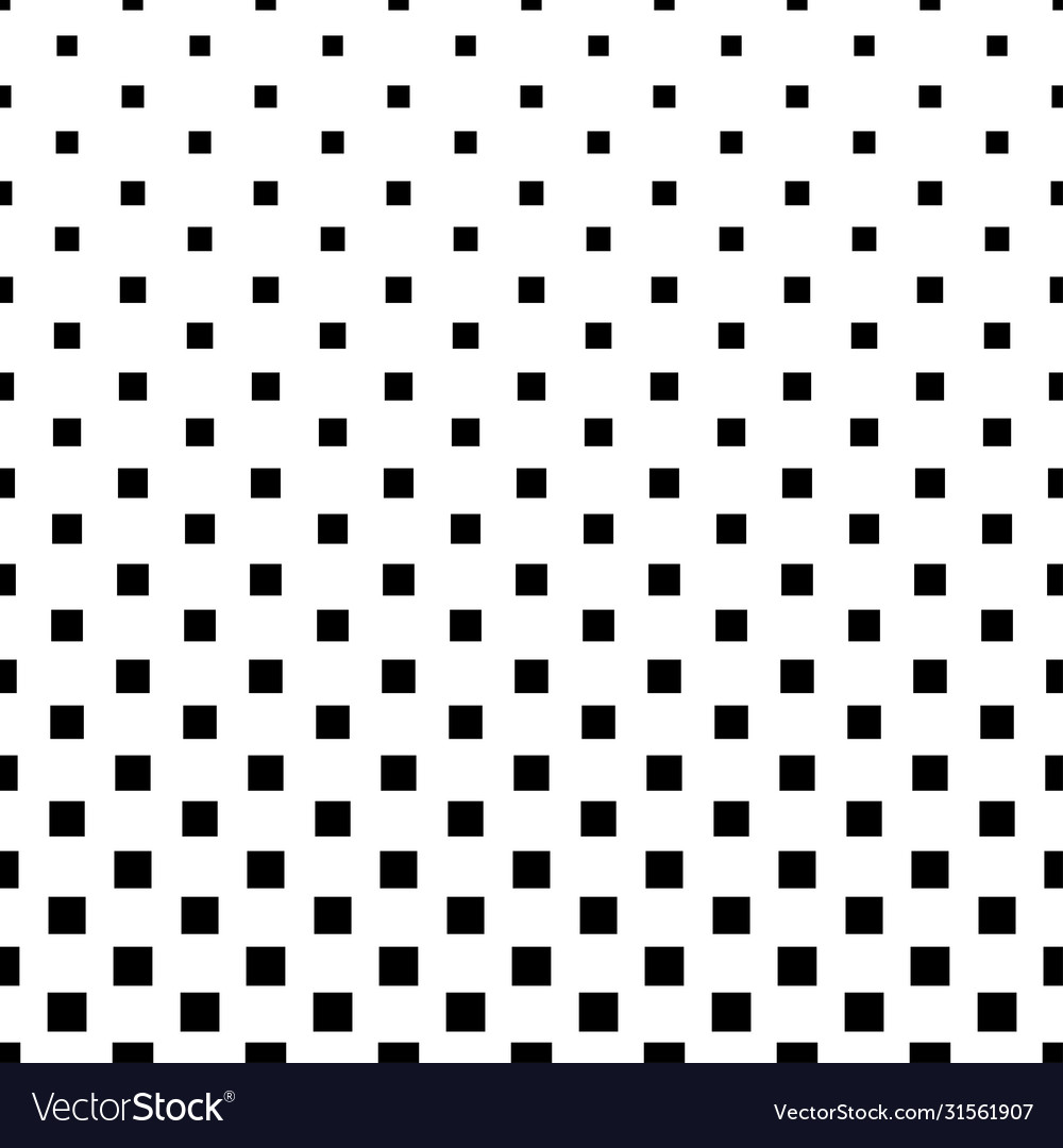Geometric pattern black squares on a white