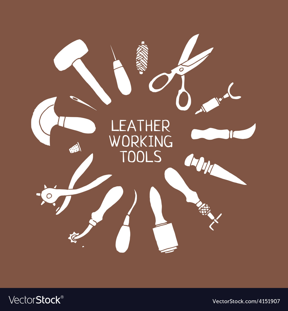 Hand drawn Leather craft tools
