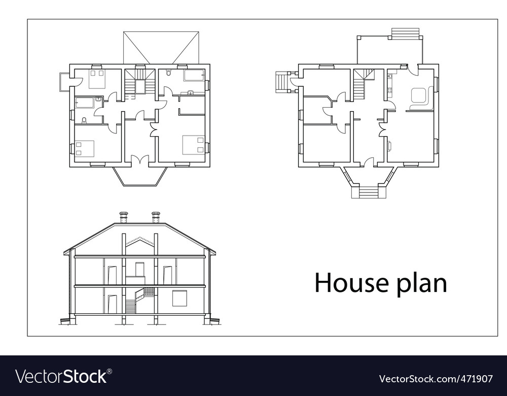 House plans Royalty Free Vector Image