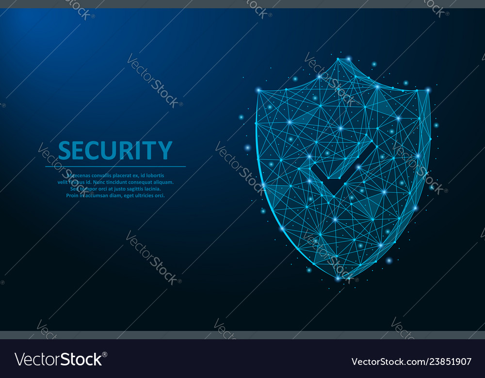 Security shield safety concept made by points and