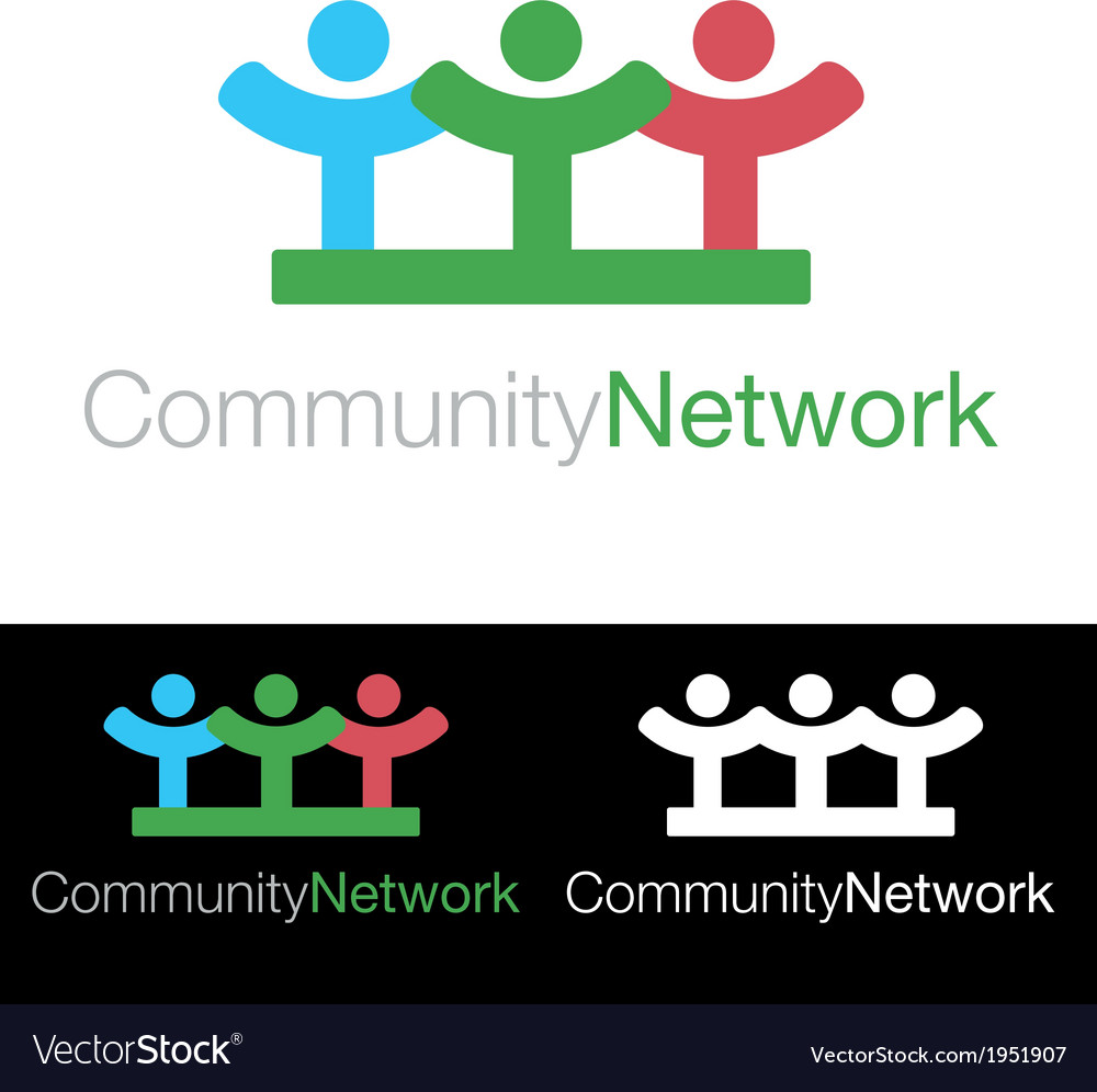 Social community health company icon logo