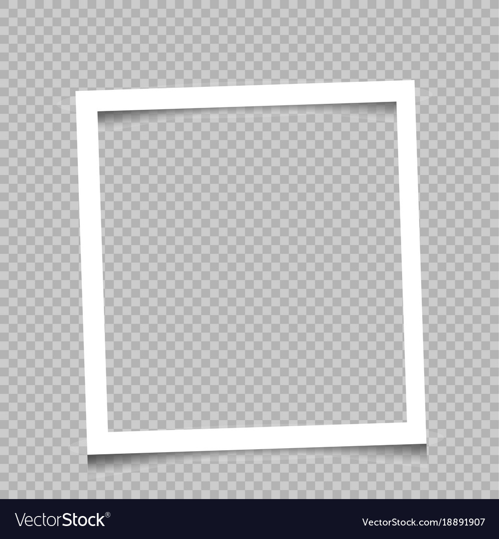 Square frame transparent background Royalty Free Vector