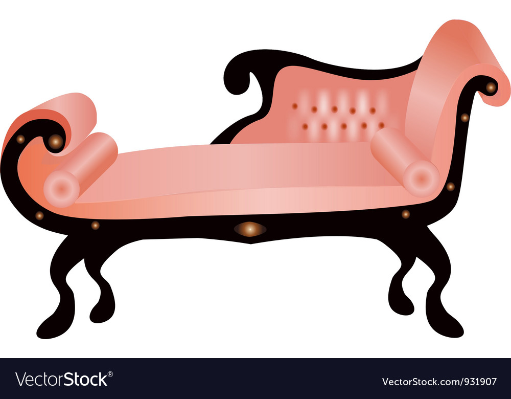 Vintage Couch Royalty Free Vector Image VectorStock