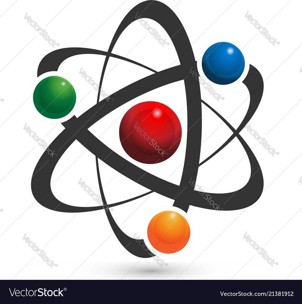 Atom icon in vivid colors