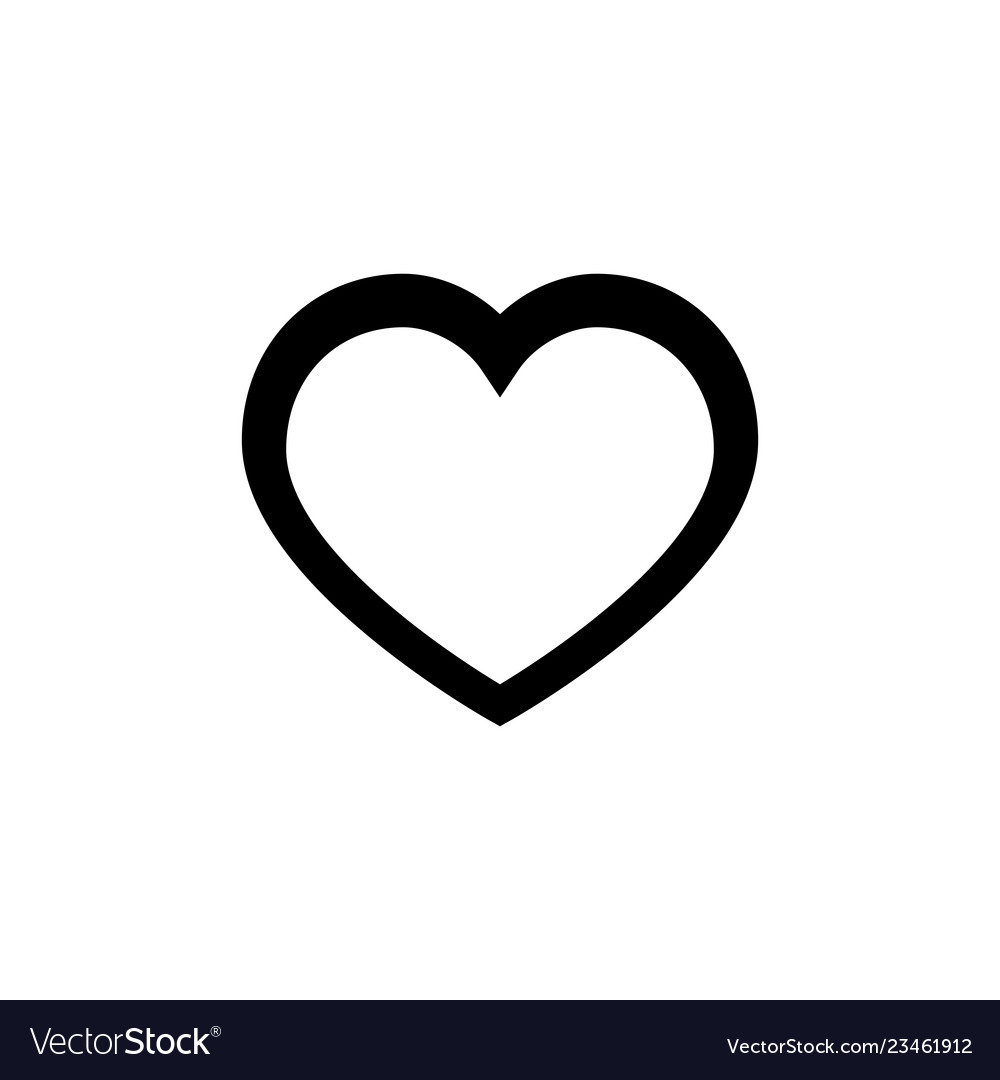 Heart line icon on white background