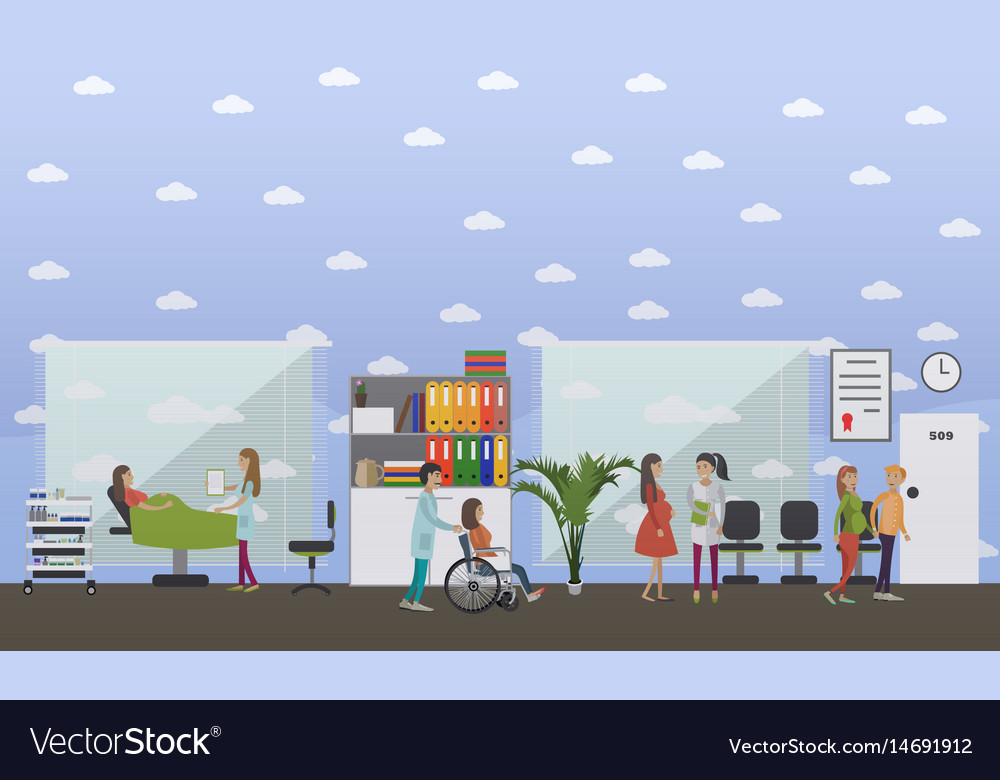 Maternity hospital concept in vector image