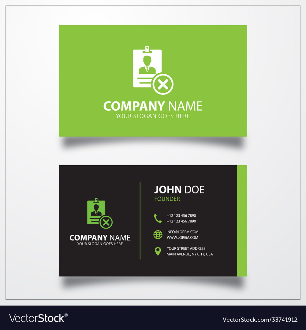 Remove id card icon business card template