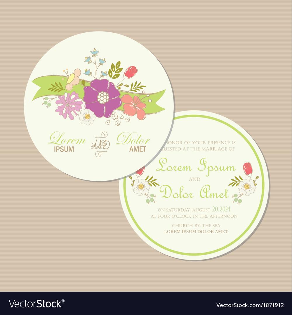Round wedding card