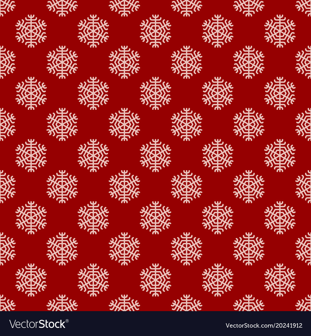 Seamless geometric winter snow pattern wallpaper vector image