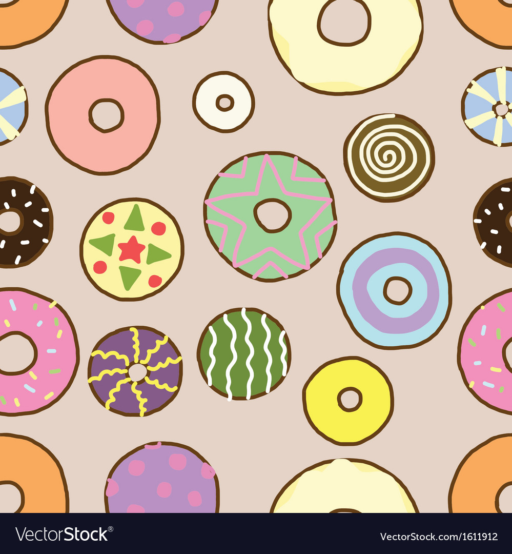 Seamless of Colorful Donuts