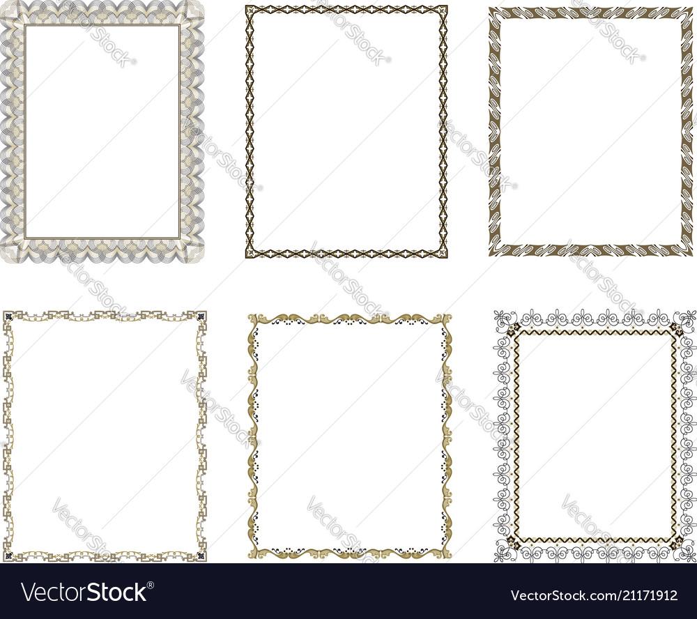 Set luxury decorative frame