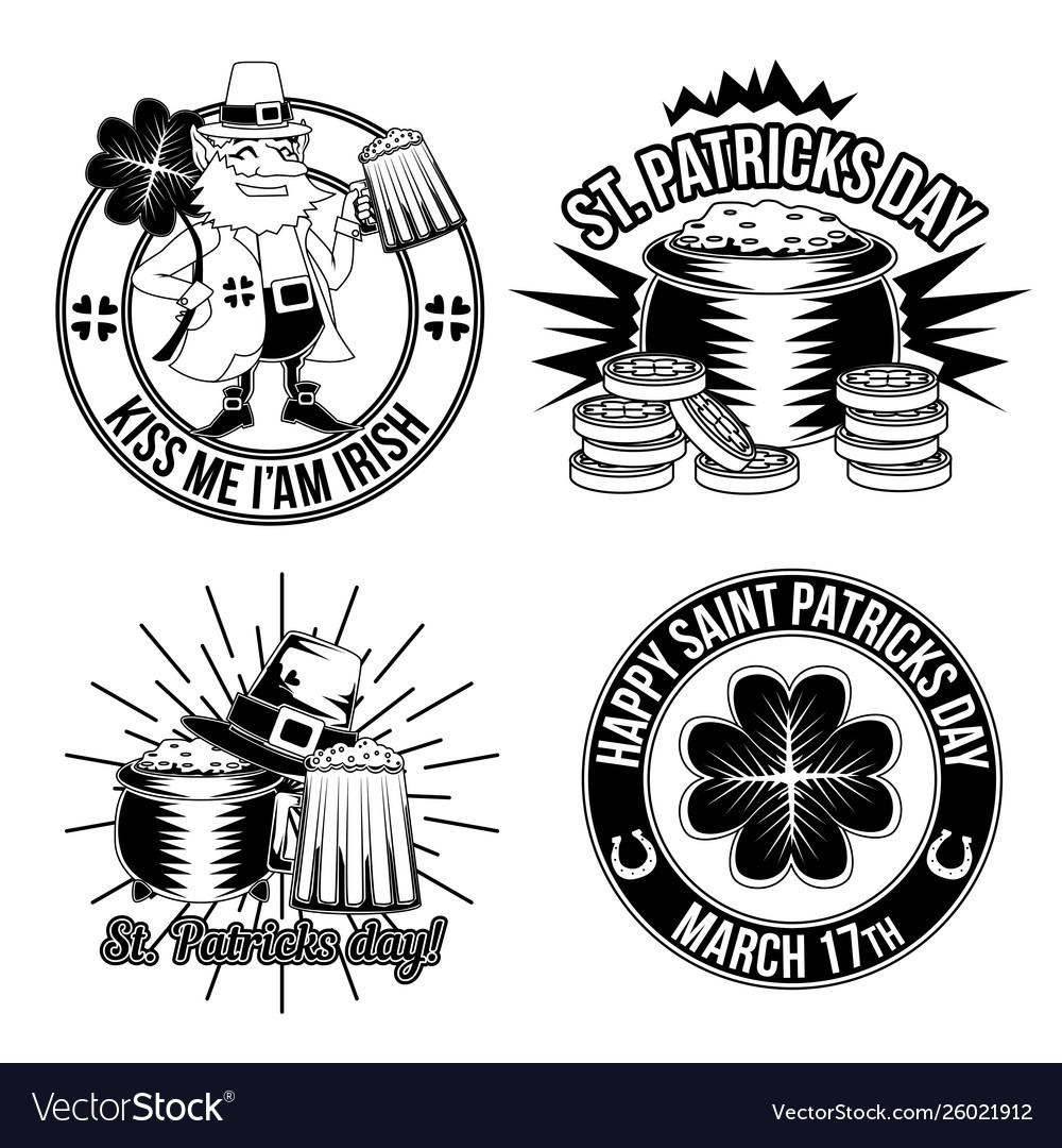 Set st patricks emblems
