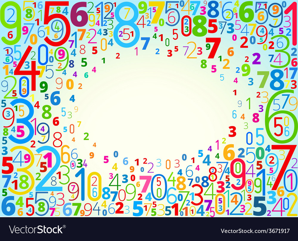 Background from numbers Royalty Free Vector Image
