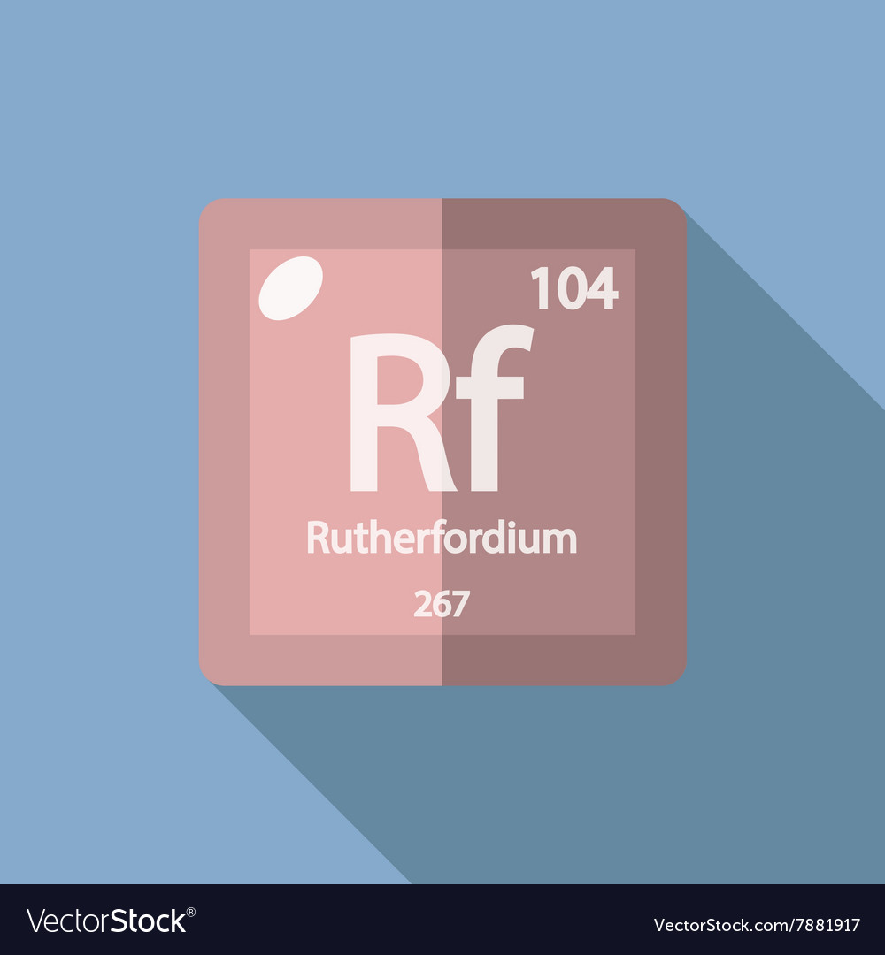 Chemical element Rutherfordium Flat vector image