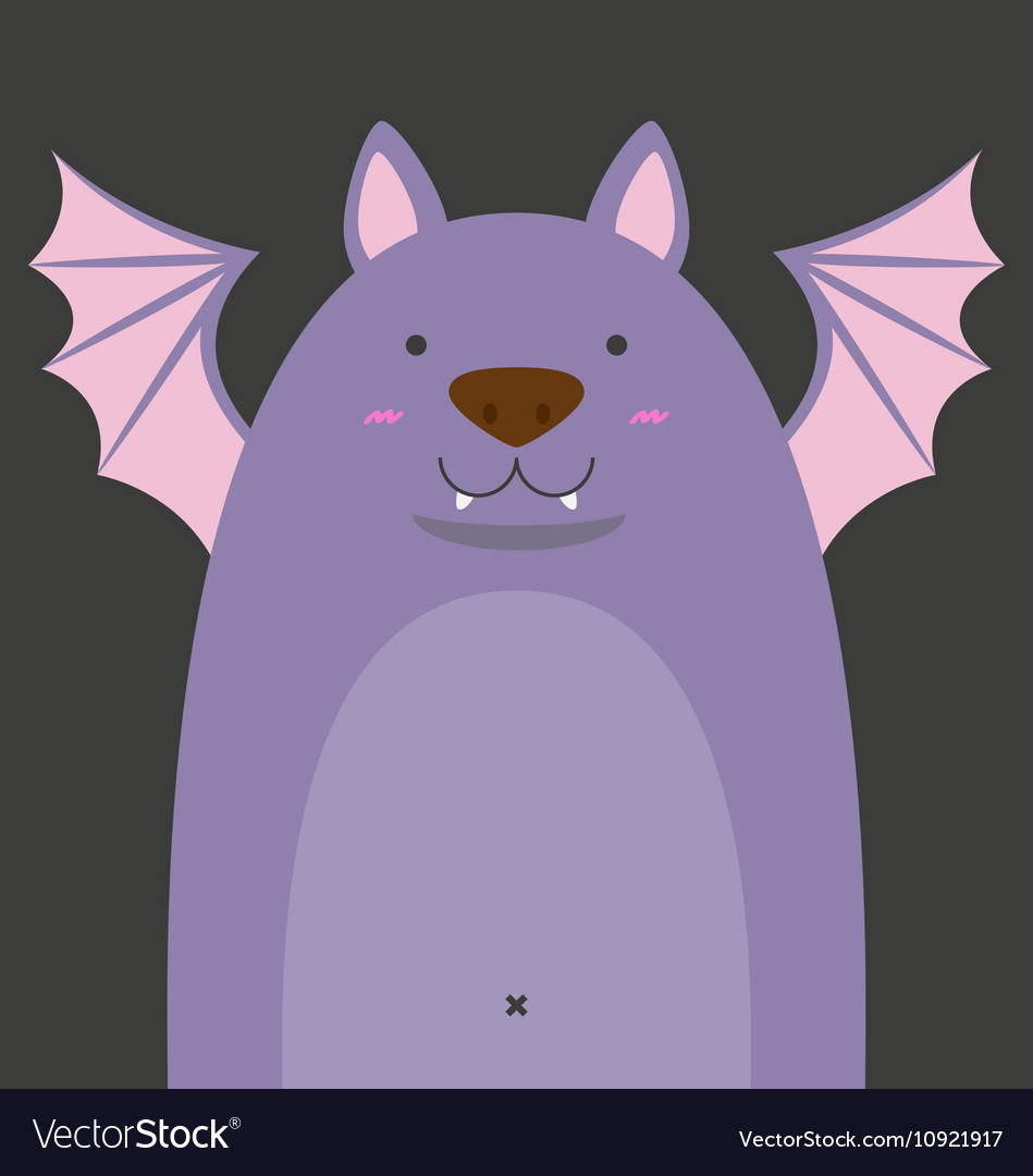 Cute big fat bat