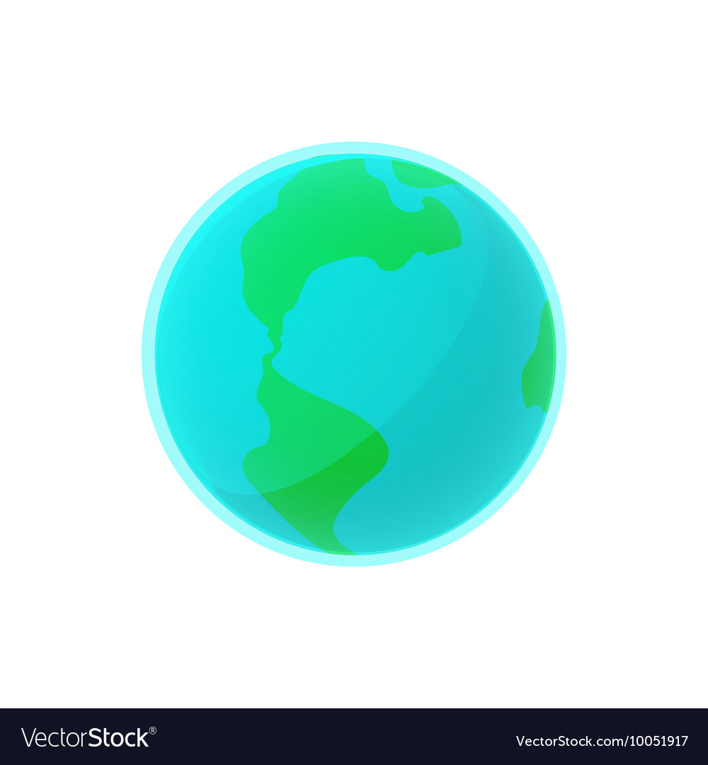 Earth icon in cartoon style