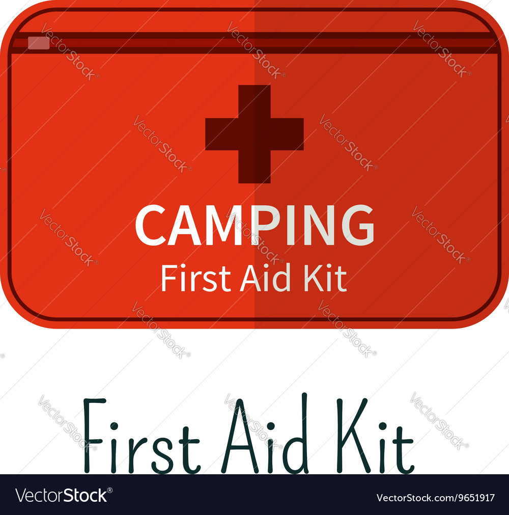 First aid kit flat icon Camping first aid box