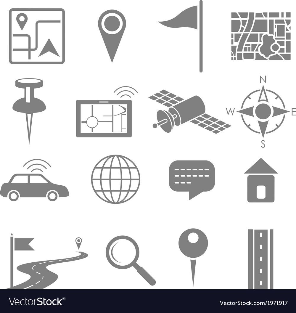 Navigation icon set for GPS application