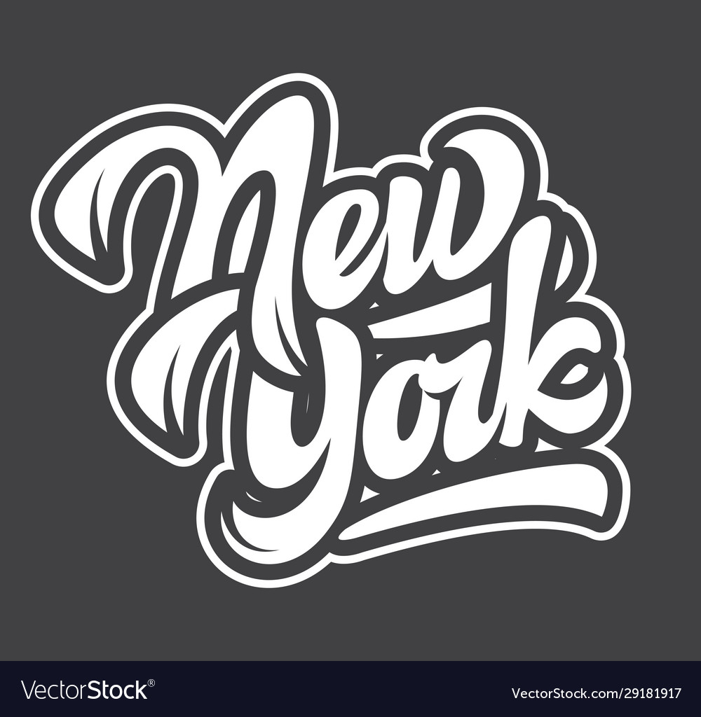 Template with name state new york lettering