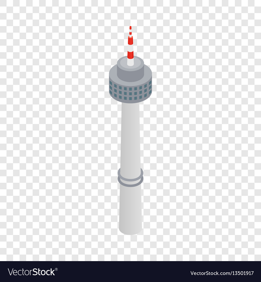Tower in seoul isometric icon