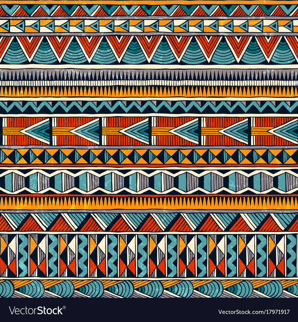 Tribal african ornament in vibrant colours
