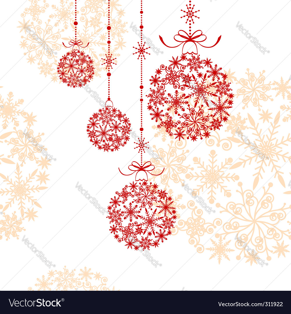 Abstract Christmas ornament vector image