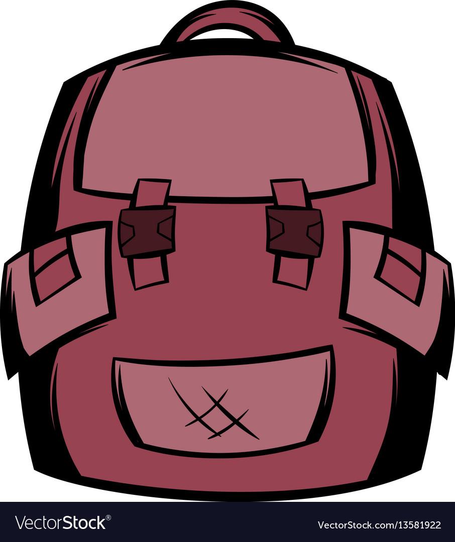 Backpack school icon cartoon vector image