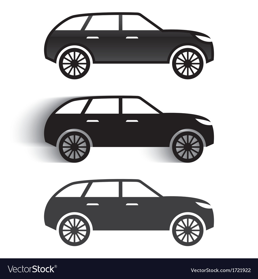 Car icons vector image