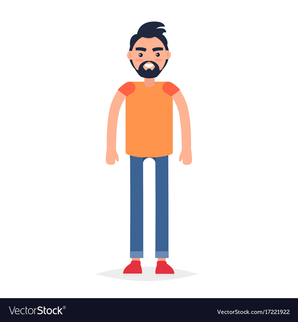 Cartoon full-length man isolated vector image