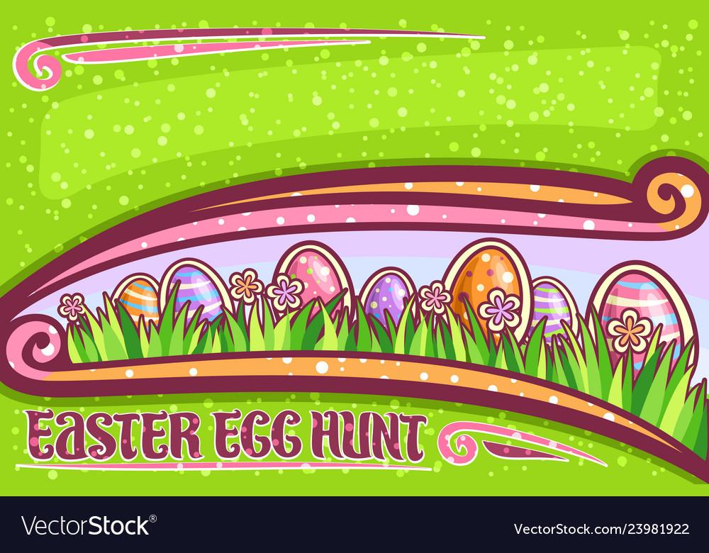Greeting card for easter egg hunt