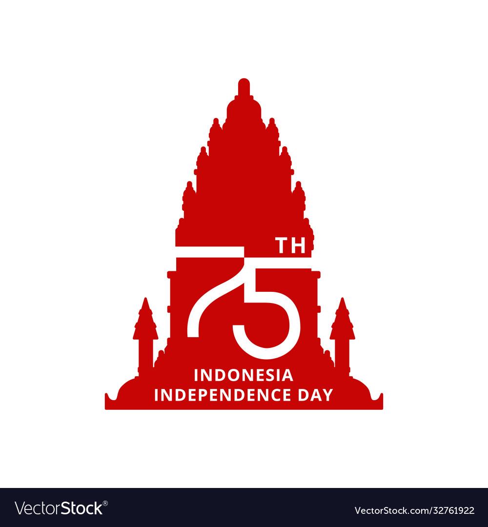 Happy independence day indonesia prambanan temple