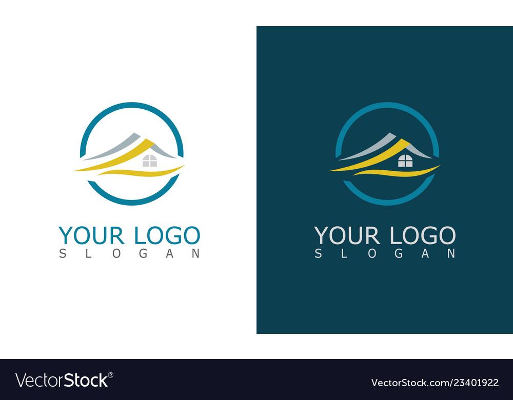 Home roof logo