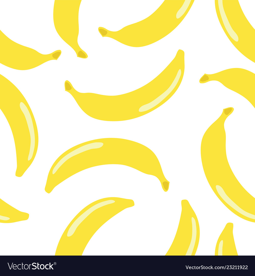 Scattered bananas seamless pattern retro style