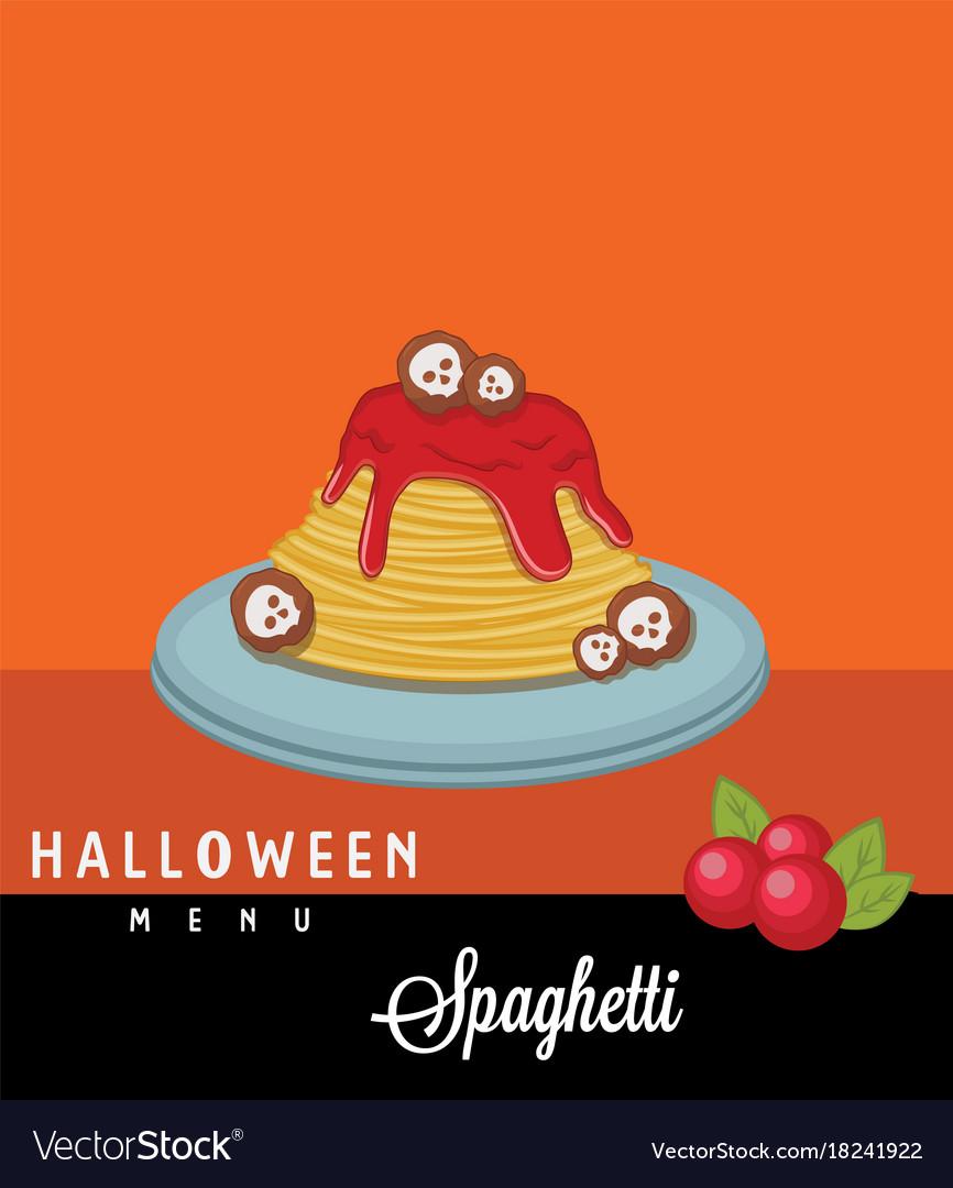 Spaghetti halloween menu