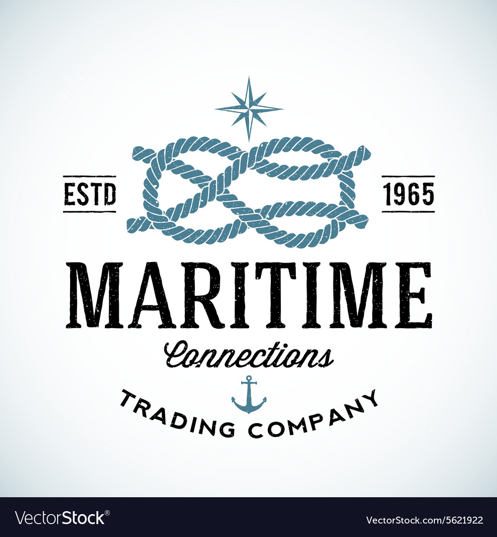 Vintage Maritime Trading Company Logo vector image
