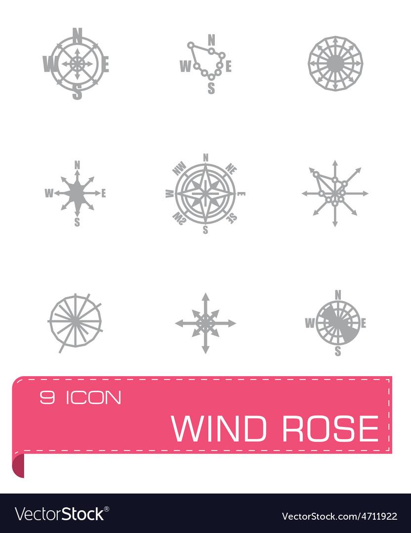 Wind rose icon set