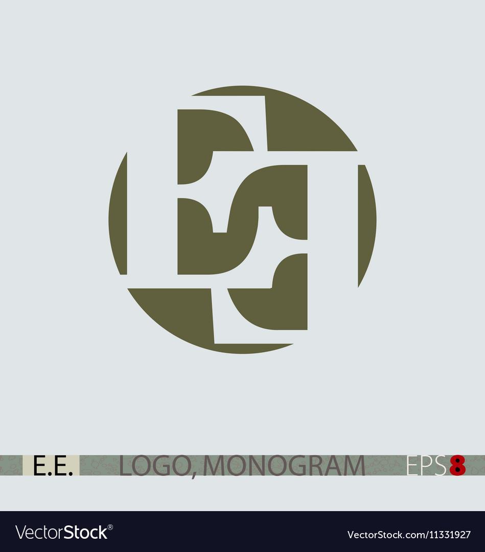 E E monogram logo Royalty Free Vector Image - VectorStock
