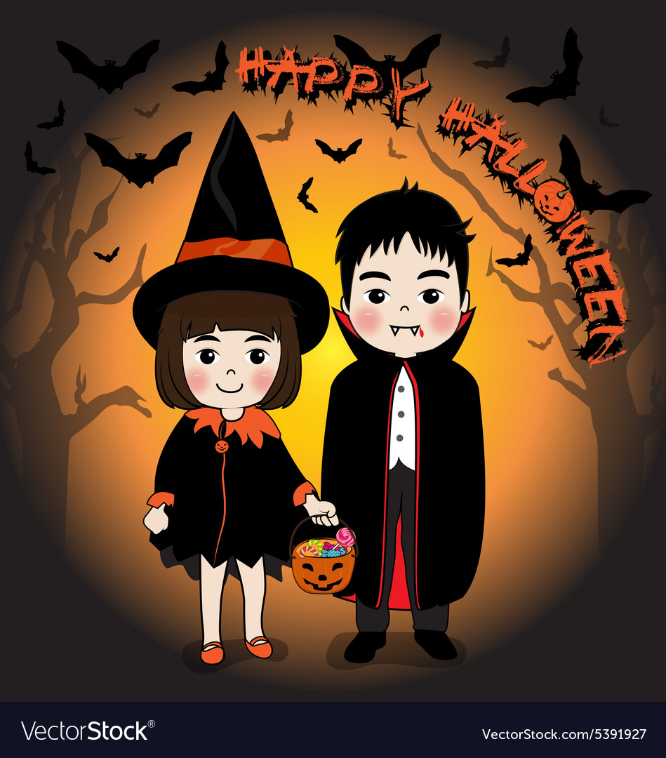 Happy Halloween and young