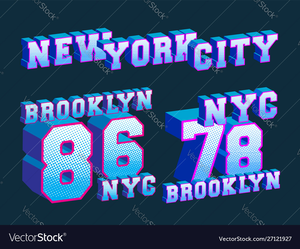 New york city - brooklyn - nyc t-shirt print