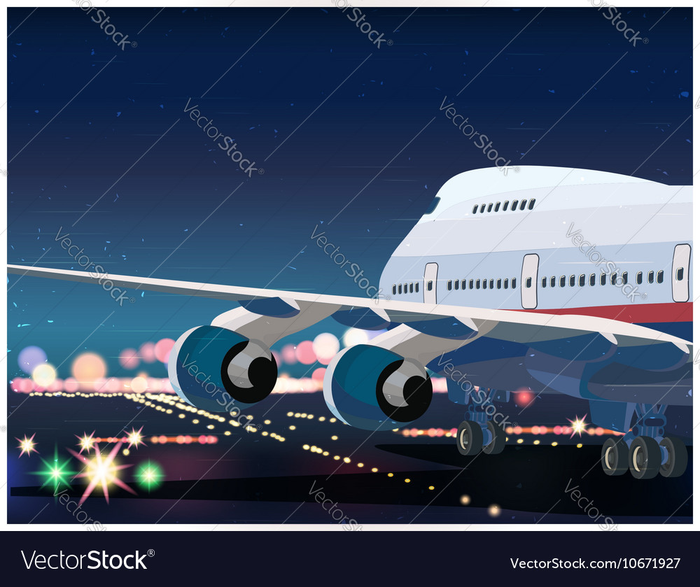 Passenger Airplane Taking Off vector image