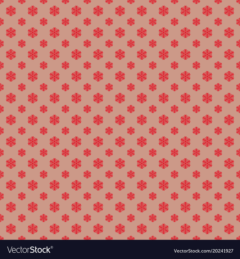 Retro simple stylized snowflake pattern wallpaper vector image