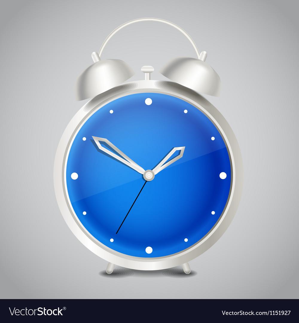 Steel modern alarm clock