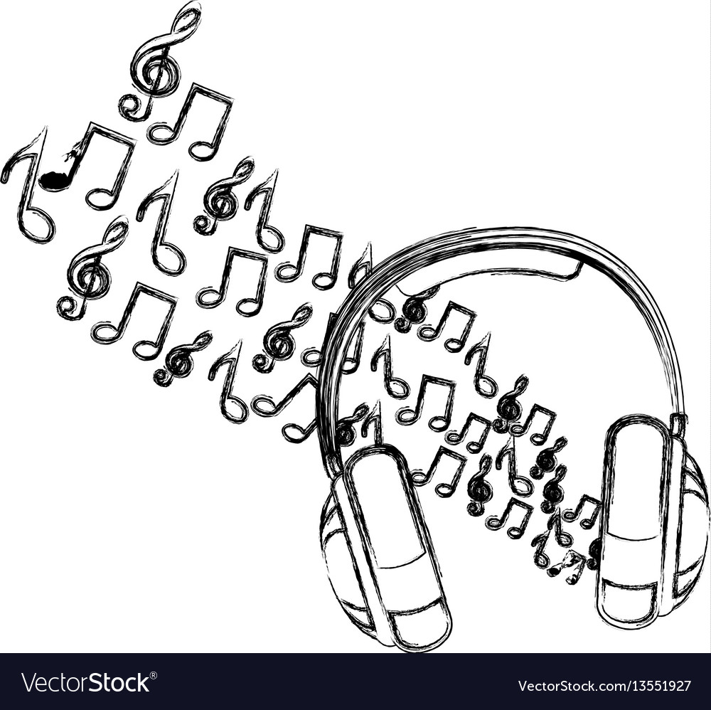 Symbol of music and headphone icon