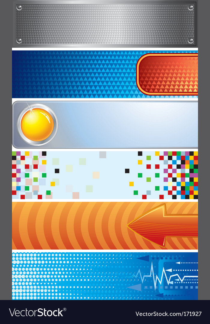 Techno banners vector image